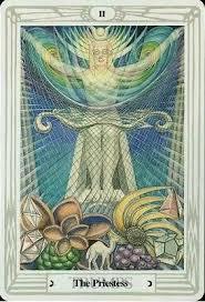 Crowley Thoth Tarot ▻ The Priestess | Tarot cards art, Tarot cards major  arcana, Aleister crowley